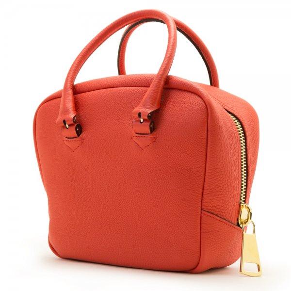 NIKO [ORANGE-RED] シュリンクレザー・エスポワール 本革ハンドバッグ