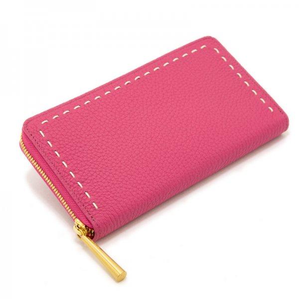 SAHO [ROYALPINK] シュリンクレザー 長財布