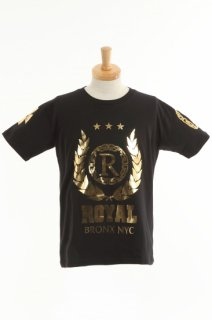 メンズ  Royal gold crest T