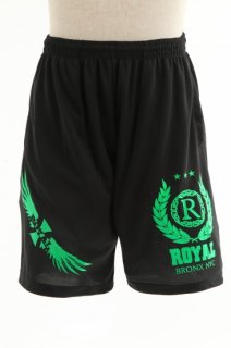 メンズ  Royal green crest Shorts
