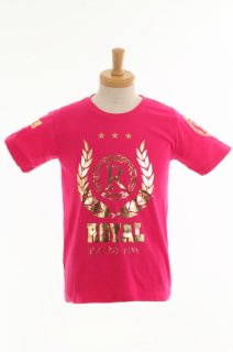 Royal gold pink crest T