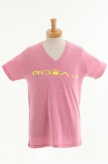 メンズ  Royal crown Cotton V-Neck Slim Fit T