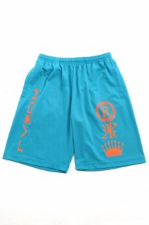 ハーフパンツ  Royal crest turquoise blue Shorts