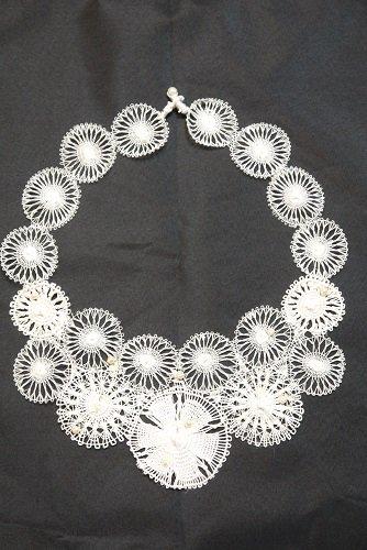 ニャンドゥティ 繊細ネックレス 丸型(白)