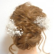 【プリザ】かすみ草のヘッドドレス
