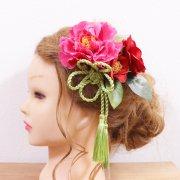 結婚式和装・成人式・卒業式の髪飾りに。椿のヘッドドレス