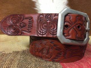 Shrinkin'Head&Skull Head Carving Belt