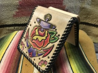 Old School Tattoo Design Half Wallet