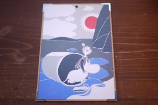 ムーミン ボードポストカード大(ムーミンとミムラ)