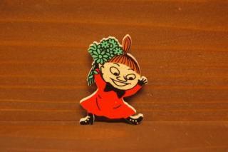 ムーミン 木製マグネット ミーとお花(新品)