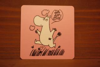 ムーミン コースター ピンク ジャンプムーミン (新品)