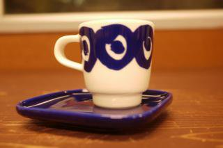 marimekko for Finnair Kissap&ouml Espresso Cup & Plate(新品)