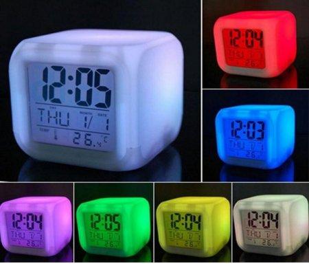 色が変わるアラーム時計 デジタルクロック(ER-ALCL)