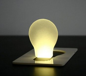 カード型 LED電球 10色