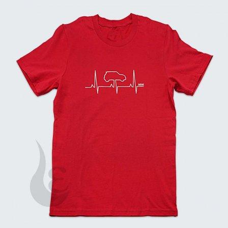 MINI ミニ HEARTBEAT Tシャツ RED