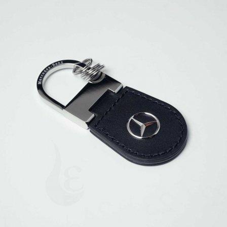 メルセデスベンツ Mercedes Benz 牛革キーホルダー/ブラック