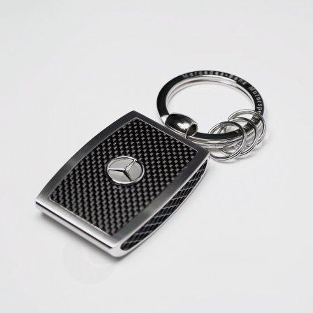 メルセデスベンツ Mercedes Benz シルバーストーンキーホルダー