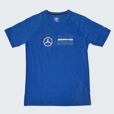 プーマ メルセデスベンツ PUMA Mercedes Benz AMG PETRONAS MOTORSPORT ロゴ Tシャツ BLUE/Mサイズ