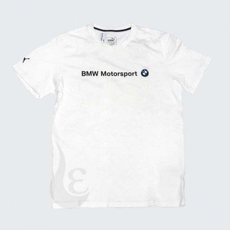 PUMA BMW プーマ ビーエムダブリュー MSロゴ Tシャツ ホワイト/Lサイズ