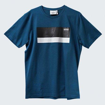 ミニ MINI COLOR BLOCK WORDMARK Tシャツ BLUEGREEN/Lサイズ