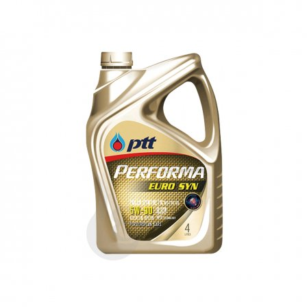 PTT オイル PERFORMA モーターオイル EURO SYN 5W-30 4L×4 ケース販売