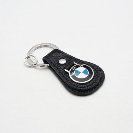 BMW ビーエムダブリュー レザーティアドロップ キーホルダー/ブラック