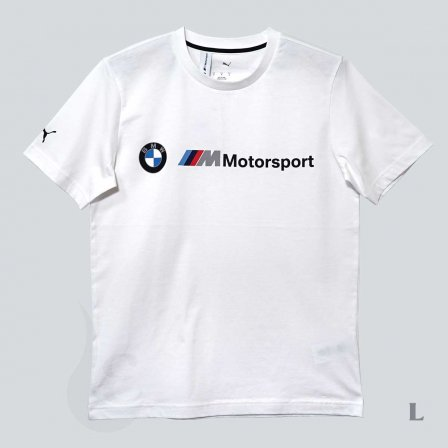 PUMA BMW プーマ ビーエムダブリュー MMS ロゴ Tシャツ WHITE/Lサイズ
