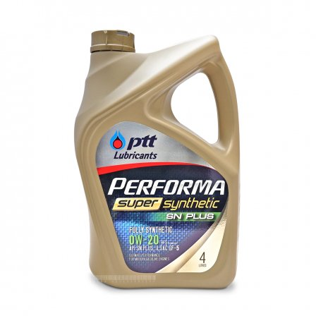 PTT PERFORMA モーターオイル SUPER SYNTHETIC 0W-20 4L×4 ケース販売