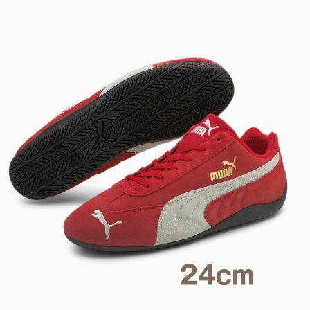 PUMA プーマ  スピードキャット LS スニーカー RED 24cm ドライビングシューズ おまけ付き