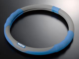 スパルココルサ  ステアリングカバー S-LINE ver.2 Mサイズ ブルー