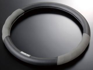 スパルココルサ ステアリングカバー レザー Sサイズ グレー