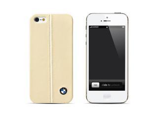 BMW 公認 レザーハードケース for iPhone5 クリームベージュ