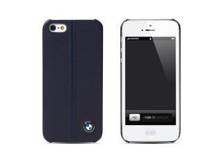 BMW 公認 レザーハードケース for iPhone5 ダークブルー