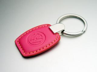 VW レザーキータグ ピンク