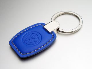 VW レザーキータグ  ブルー