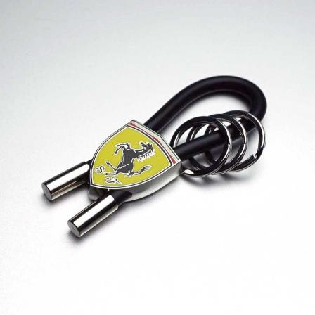 Ferrari フェラーリ ラバーストラップキーリング/BLACK