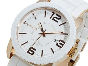 アバランチ AVALANCHE 腕時計 AV-1024-WHRG ホワイト×ローズゴールド