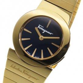 フェラガモ ガンチーニソワレ クオーツ レディース 腕時計 F70SBQ5099S080 ブラック