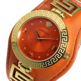 ヴェルサーチ VERSACE V-SIGNATURE クオーツ レディース 腕時計 VLA060014 オレンジ