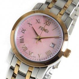 フェンディ ラウンドクラシコ クオーツ レディース 腕時計 F217270 ピンクパール