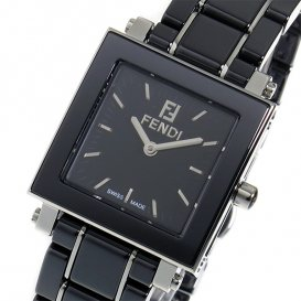 フェンディ セラミック クオーツ レディース 腕時計 F621210 ブラック