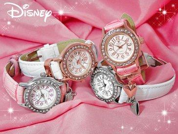 ディズニー DISNEY ハートチャーム 腕時計 NFC110044 ホワイト×ピンクゴールド