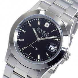 スイスミリタリー SWISS MILITARY クオーツ メンズ 腕時計 ML-98 ブラック