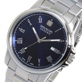 スイスミリタリー SWISS MILITARY クオーツ メンズ 腕時計 ML-376 ネイビー