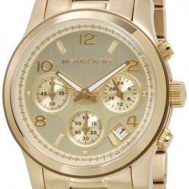 マイケルコース クオーツ レディース クロノ 腕時計 MK5055 イエローゴールド