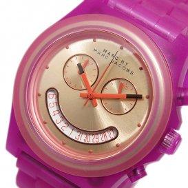 マークバイ マークジェイコブス クオーツ クロノ 腕時計 MBM4575 ピンクゴールド