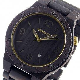 ウィーウッド WEWOOD 木製 メンズ 腕時計 ALPHA-BLACK-GOLD ブラック 国内正規