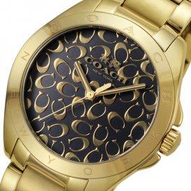 コーチ COACH トリステン クオーツ レディース 腕時計 14502348 ブラック/ゴールド