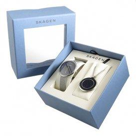 スカーゲン SKAGEN クオーツ レディース 腕時計 ネックレス ギフトセット SKW1070