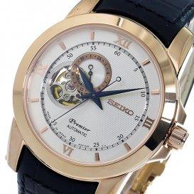 セイコー SEIKO プルミエ Premier 自動巻き メンズ 腕時計 SSA326J1 シルバー
